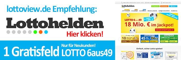 Lottohelden 6 aus 49 Angebot