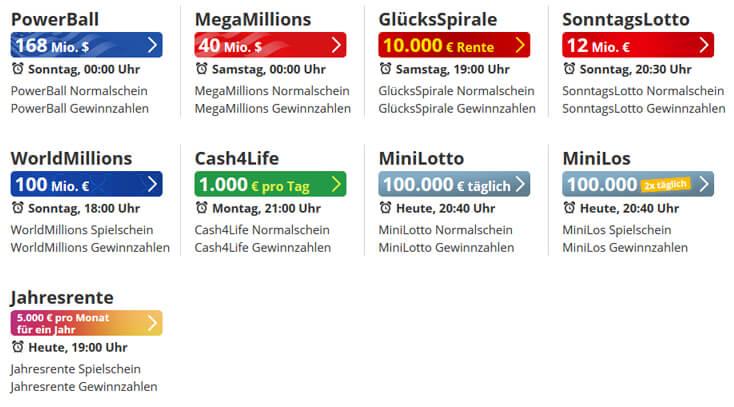 Beispiel: Spielvarianten lottohelden